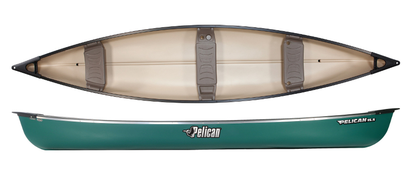 Pelican 15 5 Canoe 3 Seat Canadian Open Canoes