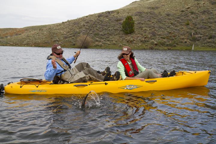 Oasis tandem hobie kayaks for Solo fishing canoe