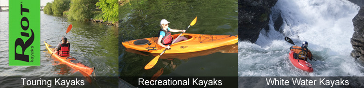 Riot kayaks for sale at Brighton Canoes