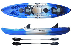 Enigma Kayak Flow Duo Tandem 2 Person Sit On Top Kayak Cheap Package Including Seats & Paddles